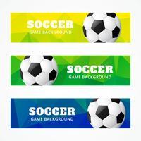 Satz Fußballkopfzeilen