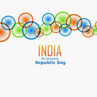 Vektor indische Flagge Rad Design