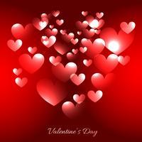 valentijn dag harten illustratie op rode achtergrond