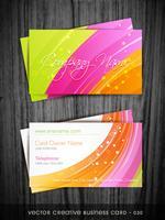 carte de visite colorée