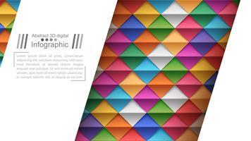 Papper origami stil - papper bakgrund.