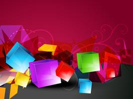 3d cubes vector shape