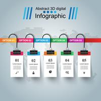 Abstract 3D digital illustration Infographic. vector