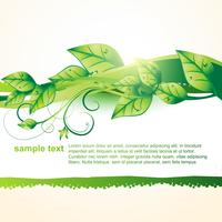 vector de hoja verde