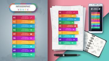 Infografía de negocios. Maqueta para tu idea.
