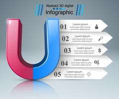 Magnet realistic icon. Business infographic.