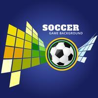diseño de fútbol estilo mosiac