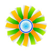 indian flag style design with wheel