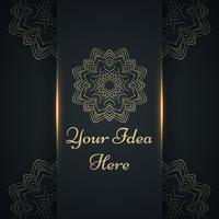 Mandala, mehendi - modello etnico oro.