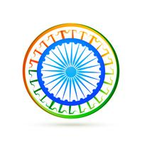 indian flag design concept with blue wheel