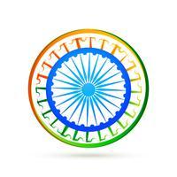 Designkonzept der indischen Flagge mit blauem Rad