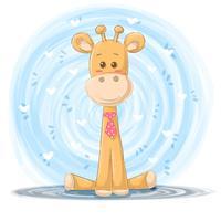 Illustrazione della giraffa del fumetto - personaggi dei cartoni animati.