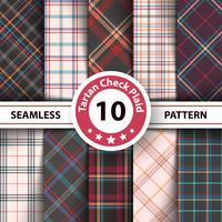 Classic tartan, Merry Christmas seamless patterns.