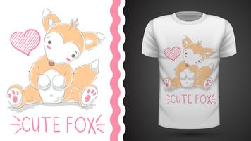 Cute fox for print t-shirt.