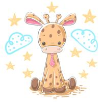 Cartoon giraffe illustration - cartoon characters.
