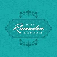 Ramadan Kareem Greeting Card and Background Islamic with Arabic Pattern