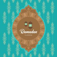 Ramadan Kareem Greeting Card and Background Islamic with Arabic Pattern