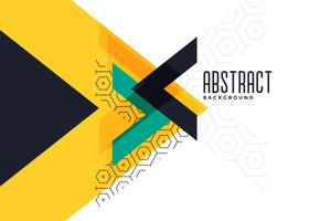 stylish yellow theme triangle abstract banner