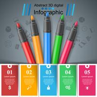 Education infographic. Five items art infographic.