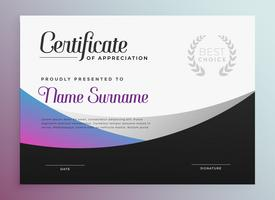 golvende moderne zakelijke certificaatsjabloonontwerp