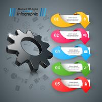 Cogwheel, gear icon. Business infographics.