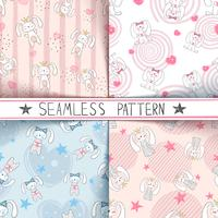 Schattige kleine prinses - naadloos patroon.