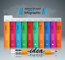 Pencil, idea - business education infographic.