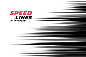 Comic lineare Geschwindigkeit Linien Hintergrund