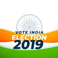 vote élection indienne 2019 conception