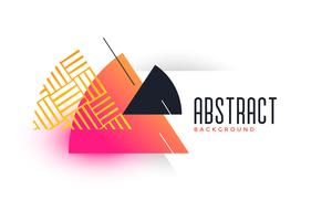 abstract triangle vibrant banner template