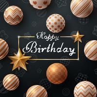 Alles Gute zum Geburtstag. Schöne dunkle Vorlage. vektor