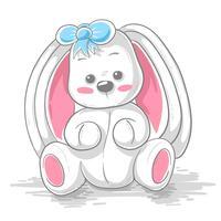 Gullig teddy kanin - tecknad illustration.