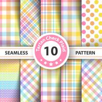 Rainbow tartan, dot - seamless watercolor pattern.