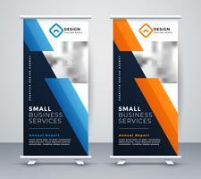 astratto banner design rollup in stile geometrico