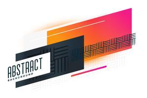 abstrakt levande geometrisk banner med mönsterelement