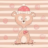 Cute, funny cartoon bear characters.