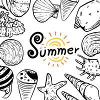 diseño de colección de vectores de verano