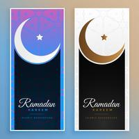 ramadan kareem eid moon islamic banners