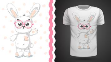 Cute rabbit - idea for print t-shirt.