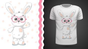 Gullig kanin - idé för tryckt-skjorta.