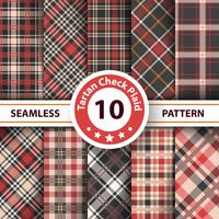 Classic tartan, Picnic tablecloth, Gingham, Buffalo, Lamberjack, Merry Christmas check plaid seamless patterns.