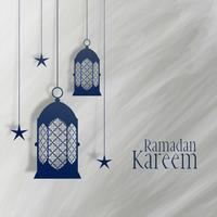 ramadan kareem lantern and star decoration background