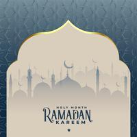 Ramadán kareem hermosa mezquita islámica de fondo