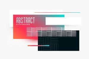 bannière vibrante de composition triangle abstraite géométrique