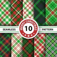 Tartán clásico, mantel de picnic, moña, búfalo, Lamberjack, patrones sin costura a cuadros de cuadros de Feliz Navidad.