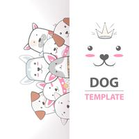 Cute, cool, pretty, funny, crazy, beautiful dog template.