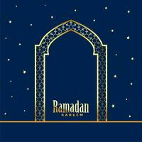 golden mosque door ramadan kareem background
