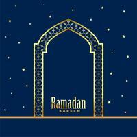 porta de Mesquita Dourada Fundo de Ramadan Kareem