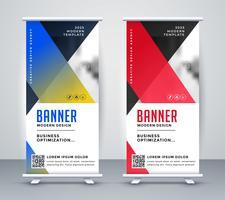 rollup geométrico design moderno banner de negócios