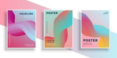 set moderno di vibrante sfondo di poster design